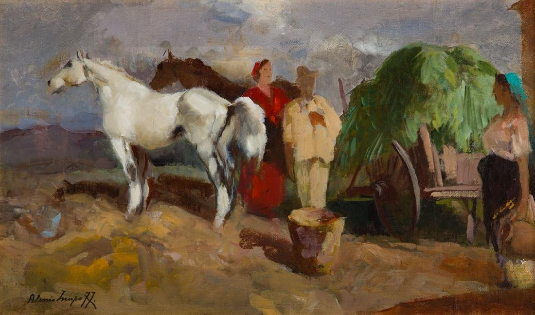 Alessio, Issupoff, (1889 - 1957), In the countryside,
