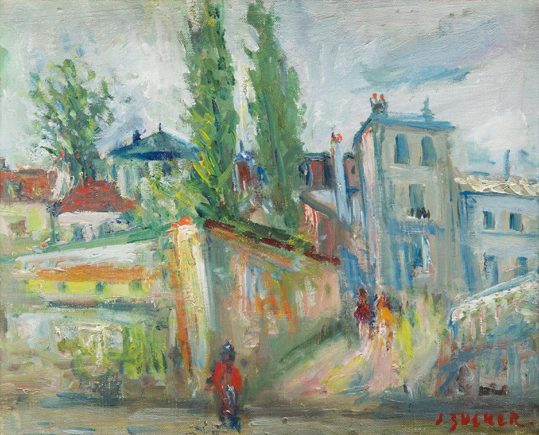 Jakub Zucker (1900 - 1981) 'Houses in Bievres'