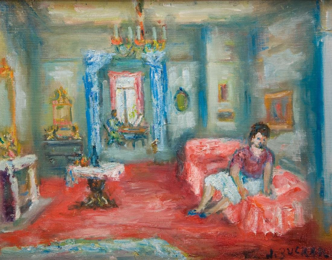 Jakub Zucker (1900 - 1981) Woman on a sofa