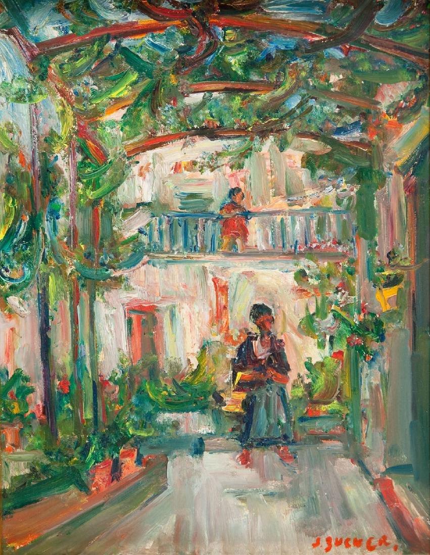 Jakub Zucker (1900 - 1981) In the arbour