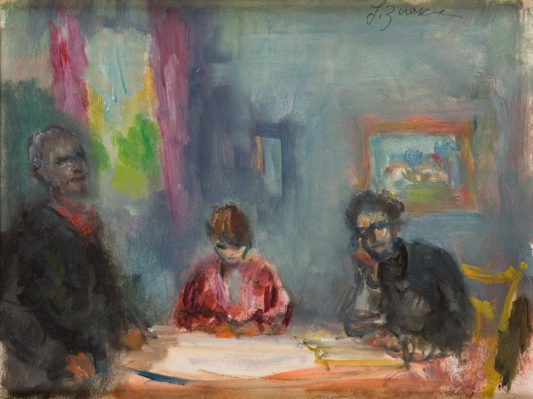 Jakub Zucker (1900 - 1981) A family around a table