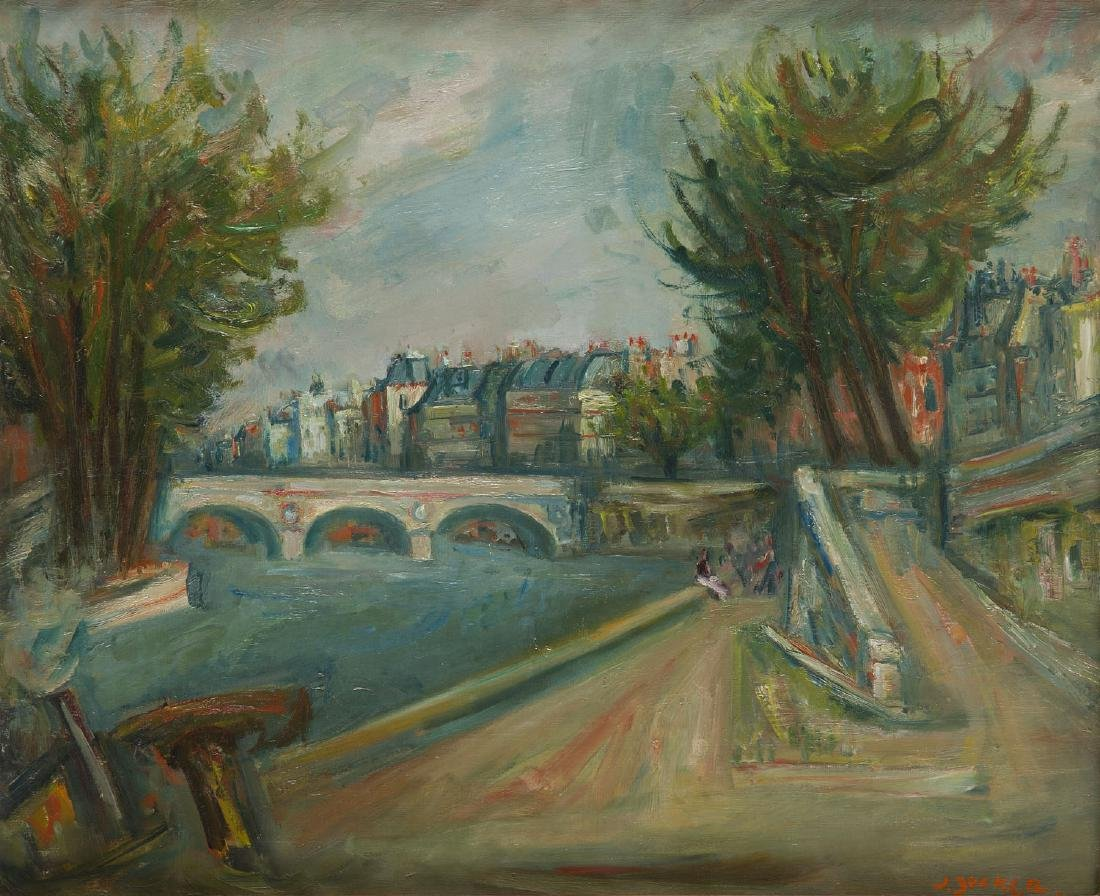 Jakub Zucker (1900 - 1981) View on Pont Marie in Paris