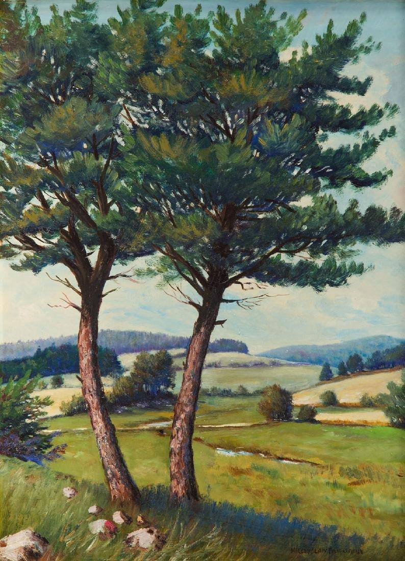 Mieczyslaw Filipkiewicz (1891 - 1951) Summer landscape
