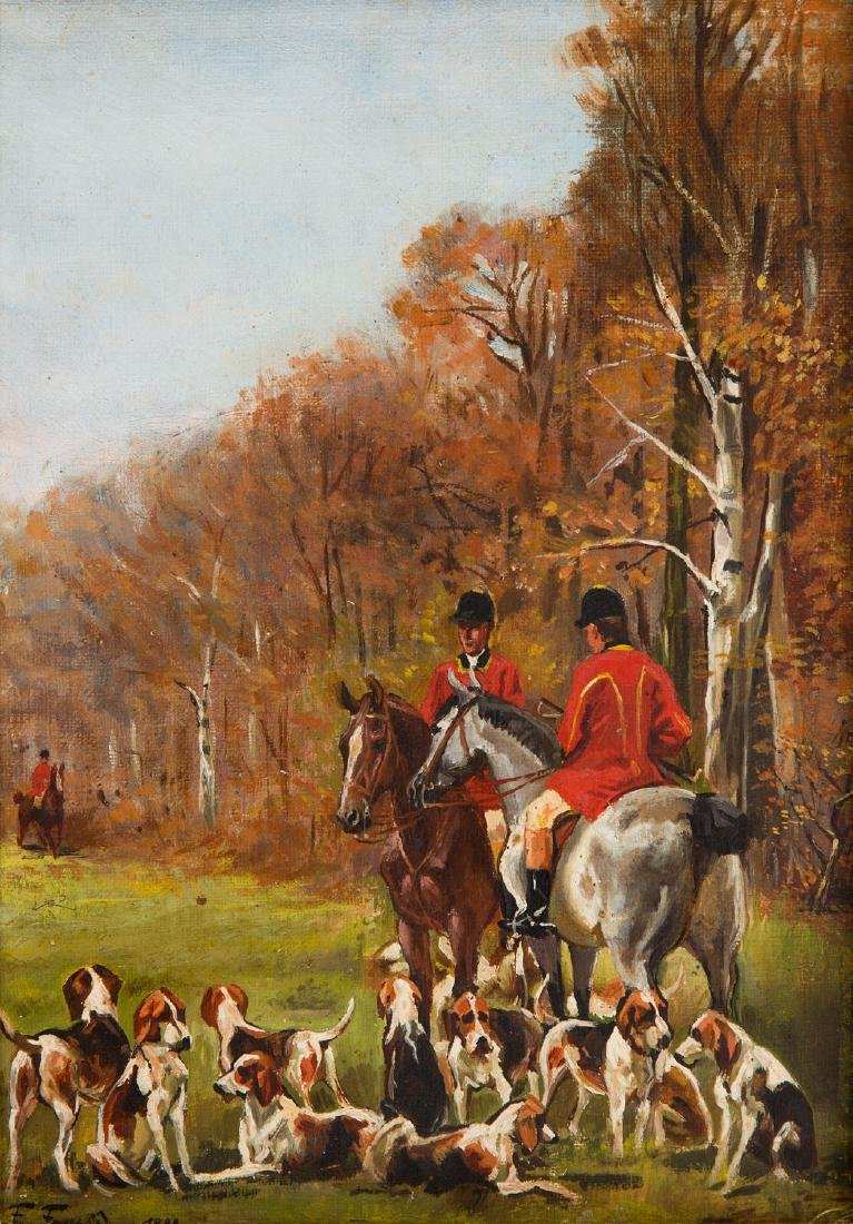Feliks Franic (1871 - 1937) Hunting, 1888