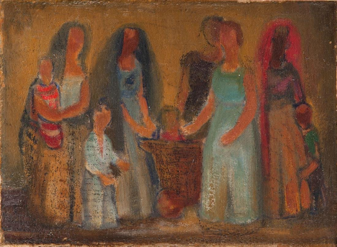Ludwik Lille (1897 - 1957) Women around the cradle