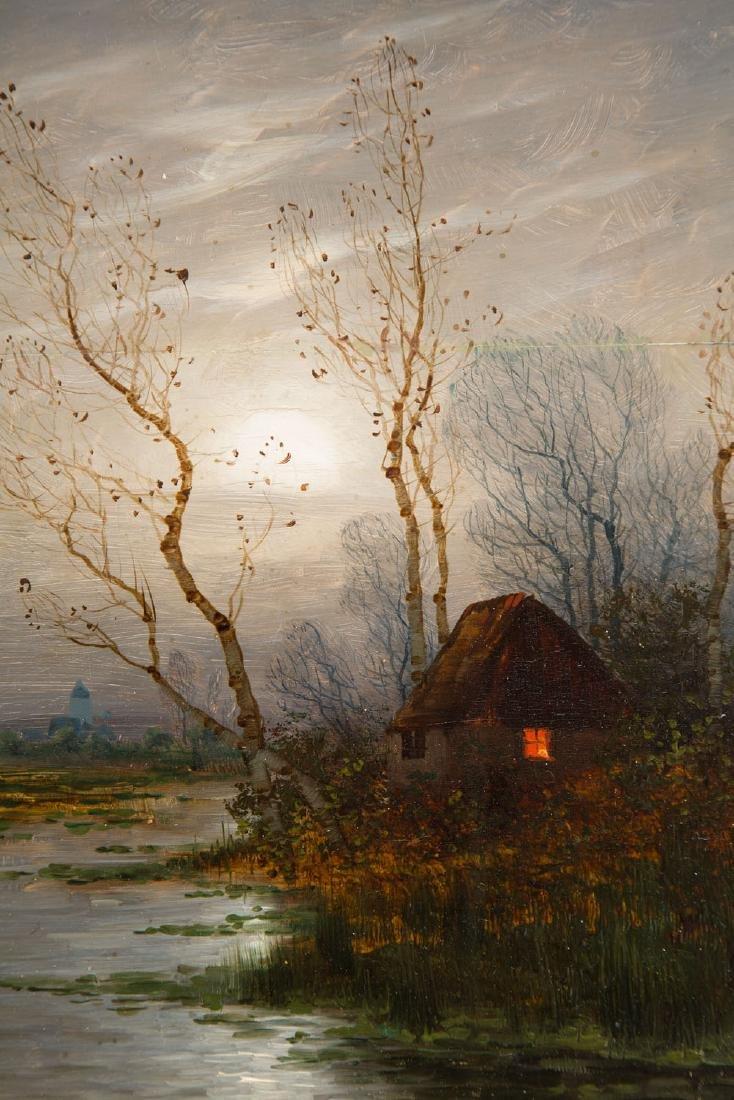 Johann Jungblut (1860 - 1912) Nocturne with a hut - 4