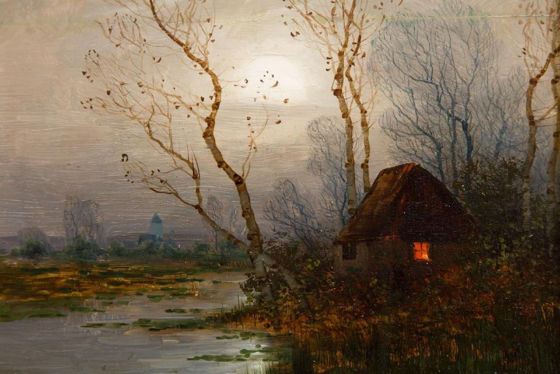 Johann Jungblut (1860 - 1912) Nocturne with a hut - 5