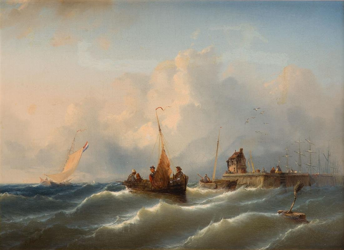 Eduard Schmidt (1806 - 1862) On the sea