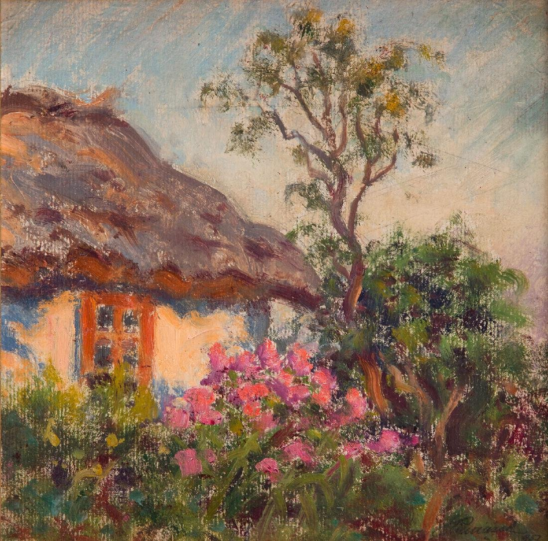 Stefan Pieniazek (1888 - 1958) Old cottage and the