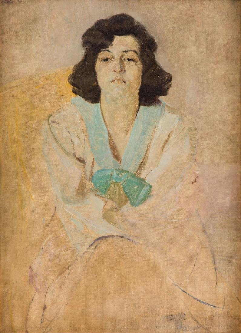 Ignacy Pinkas (1888 - 1935) Portrait of a woman, 1918