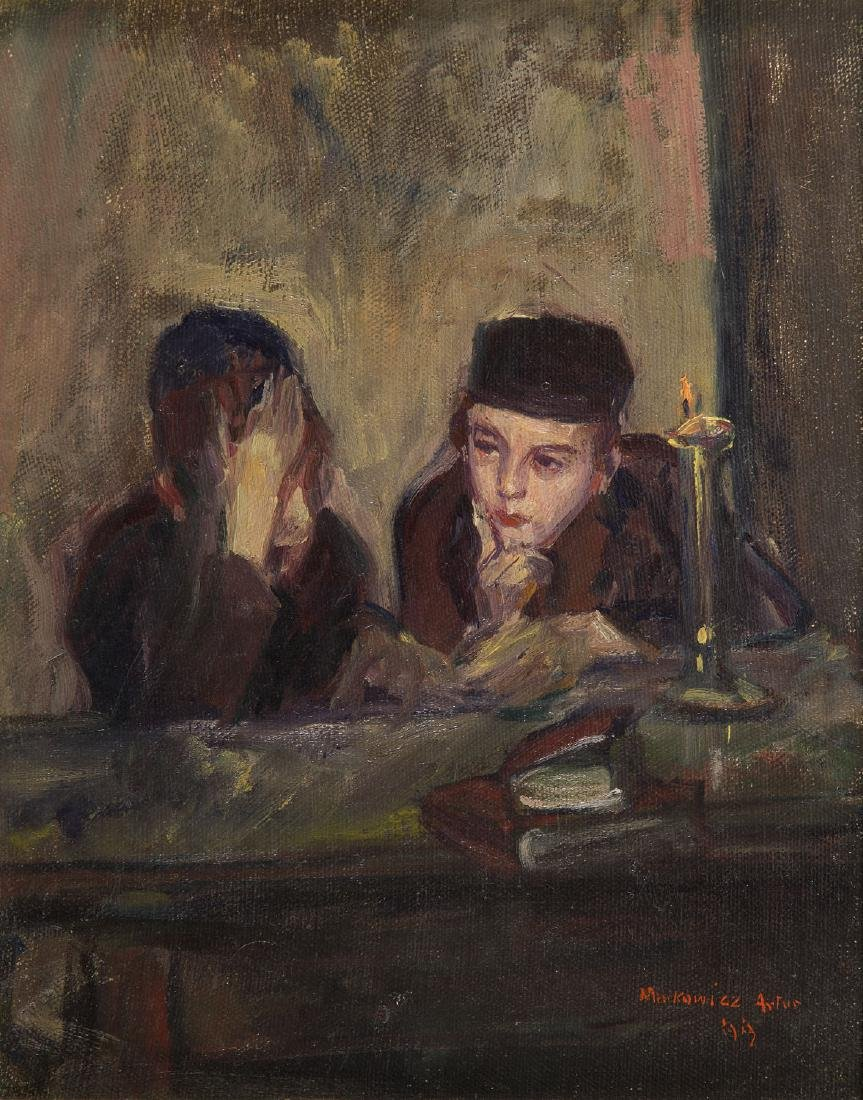 Artur Markowicz (1872 - 1934) At the table, 1913