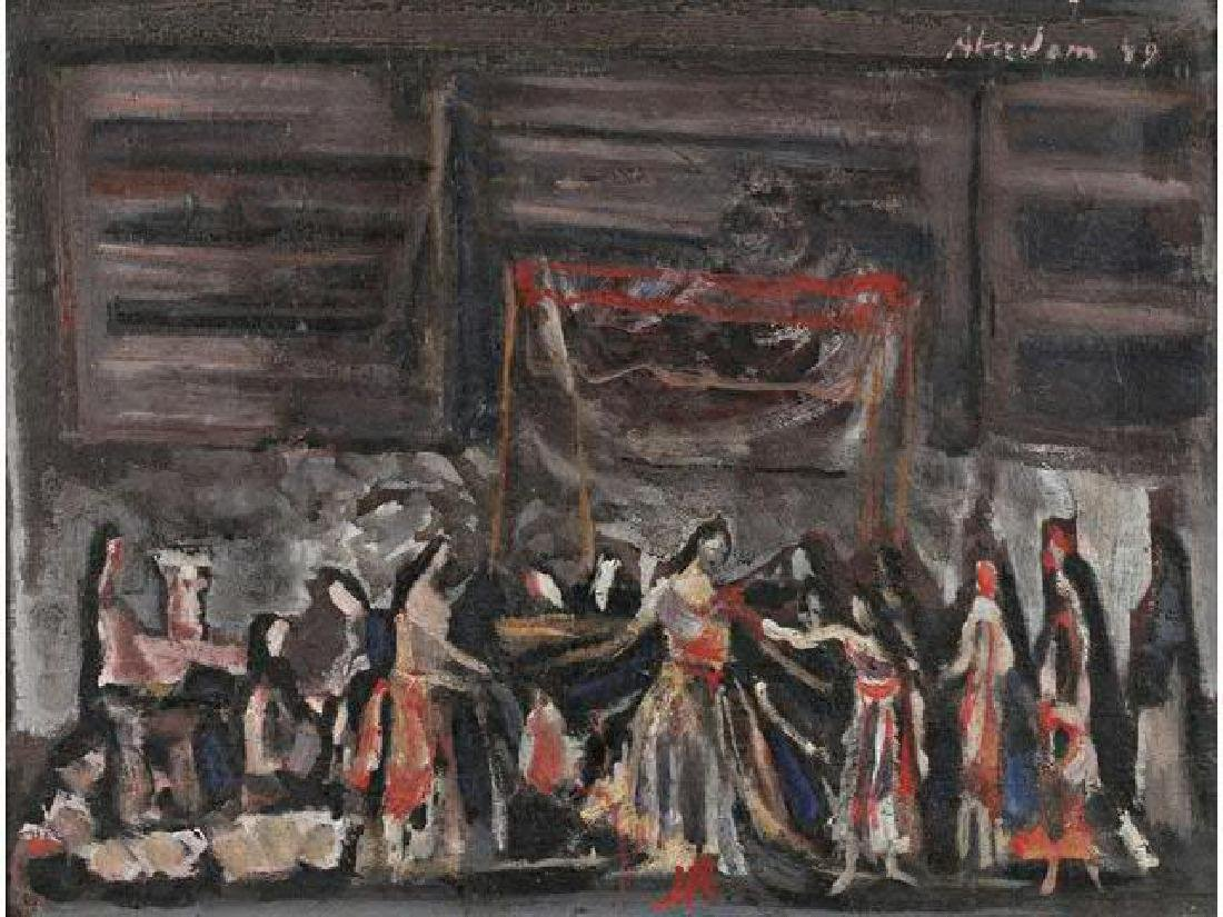 Alfred Aberdam (1894 - 1963) Wedding preparation, 1949