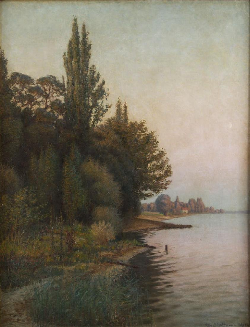 Robert Hoffman (1868 - 1935) Landscape with the rising