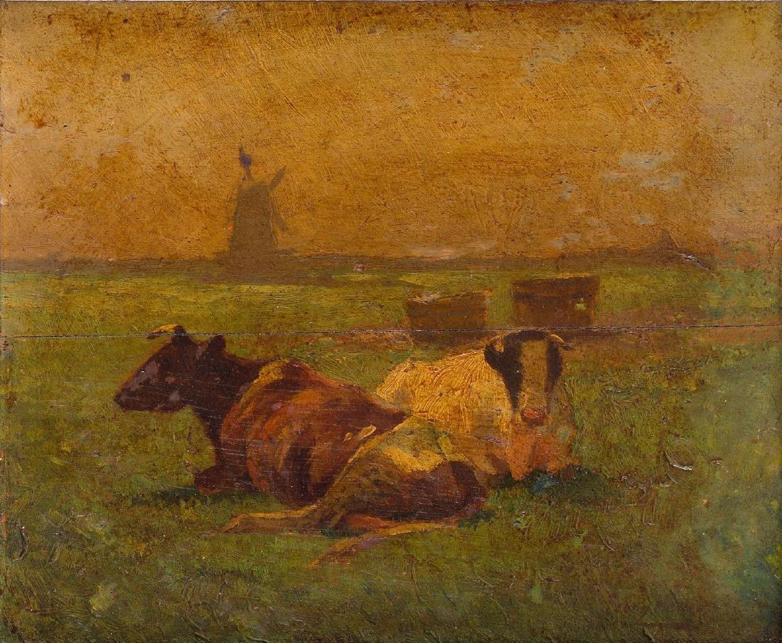 Franz Xaver Hoch (?) (1869 - 1916) Dutch landscape