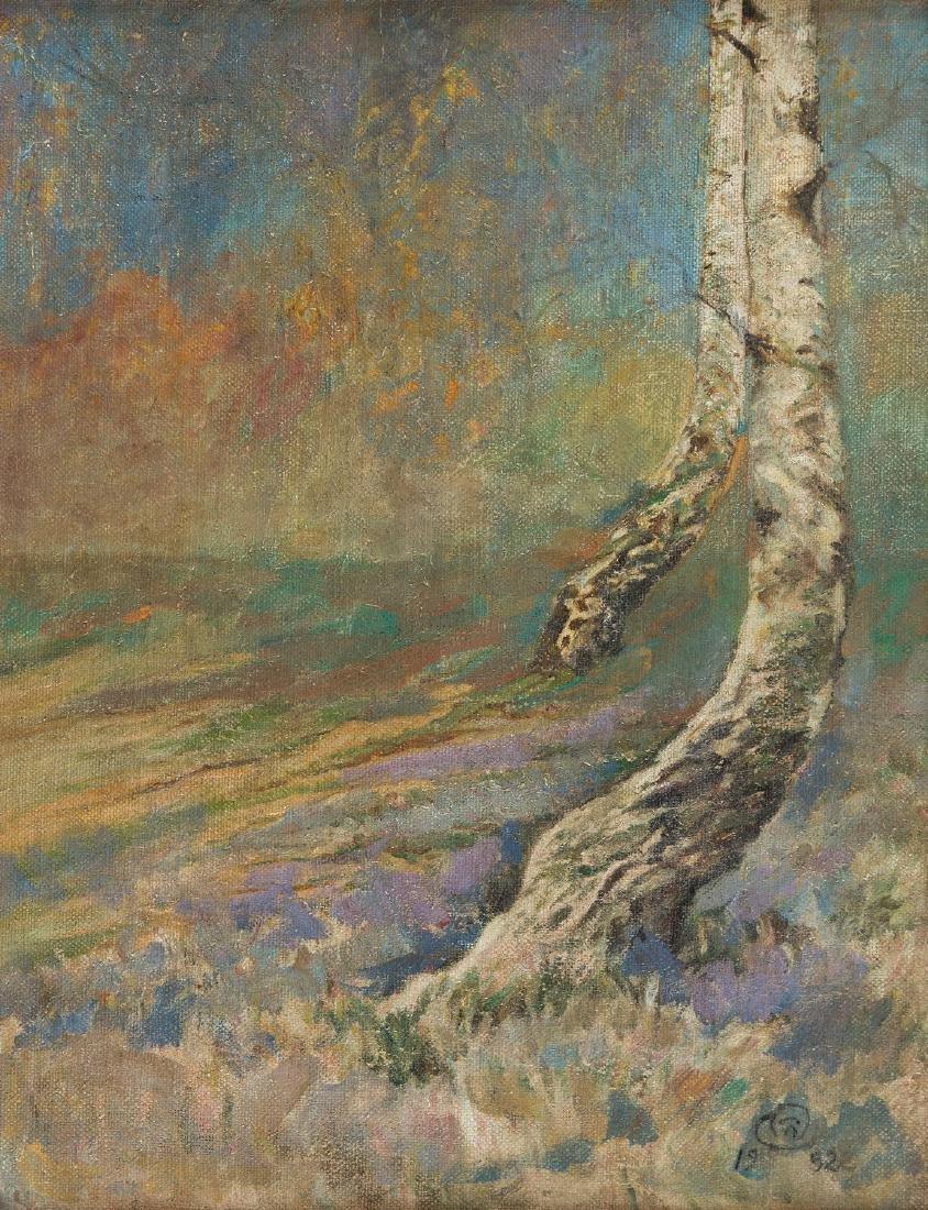 Czeslaw Wierusz-Kowalski (1882 - 1984) Birches and the