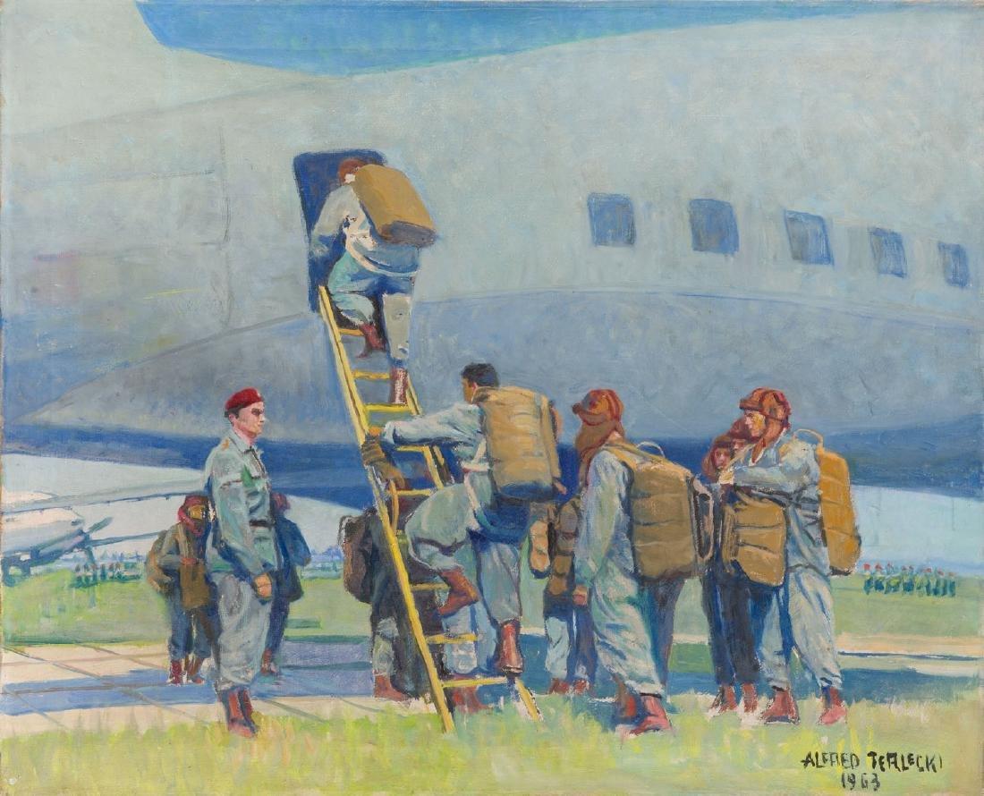 Alfred Terlecki (1883 - 1973) Parachutists, 1963
