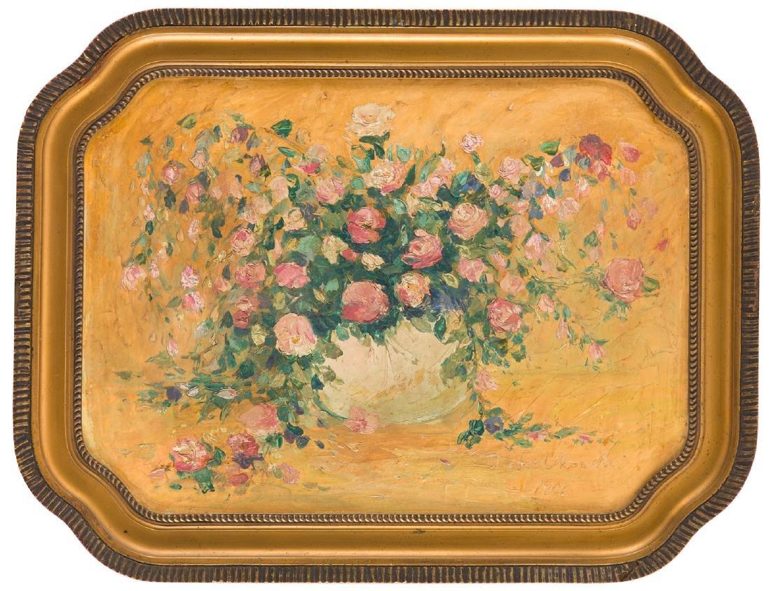Wlodzimierz Terlikowski (1873 - 1951) Roses in a vase,