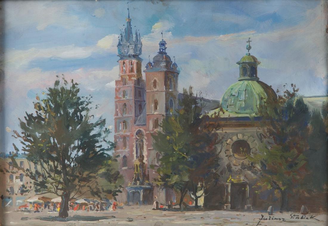 Juliusz Slabiak (1917 - 1973) View of St. Mary's