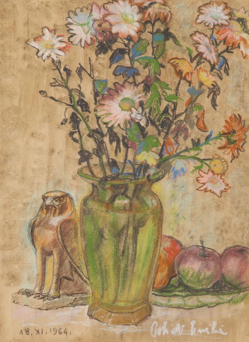 Henryk Policht (1888 - 1967) Still life with flowers,