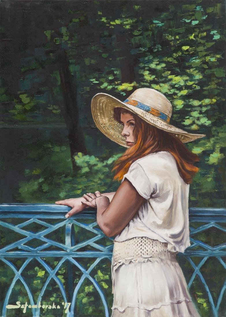Marlena Sztamborska (b. 1995) Woman in a hat, 2017