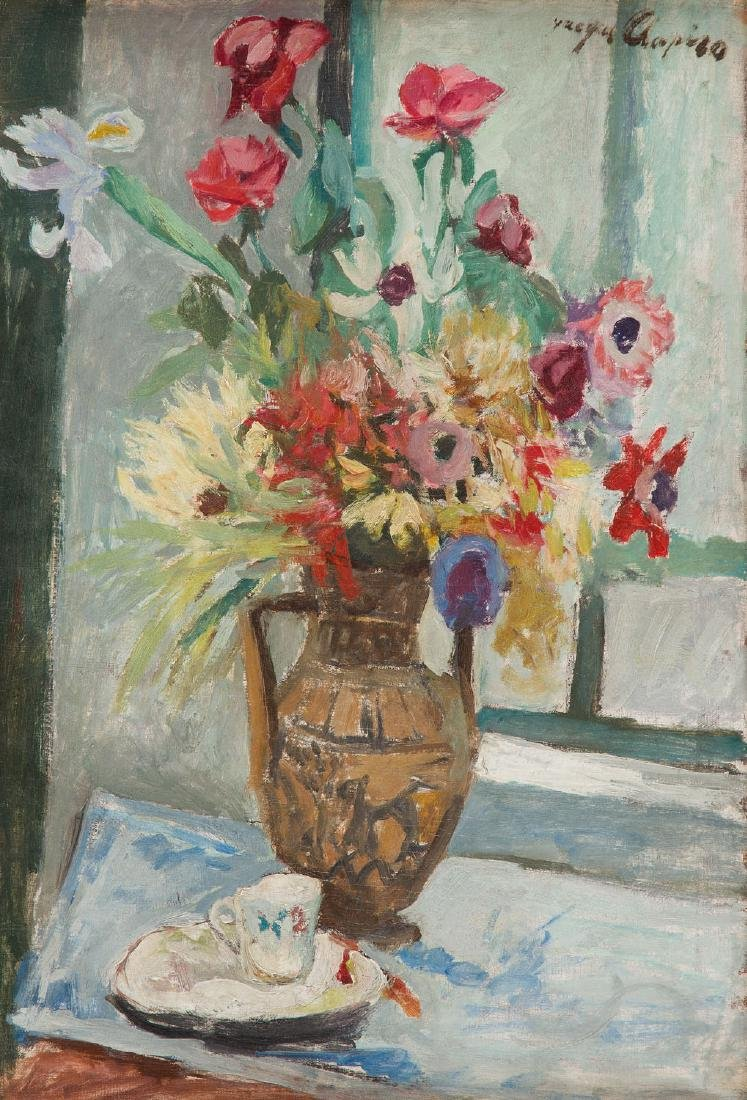 Jacques Chapiro (1887 - 1972) Flowers in vase