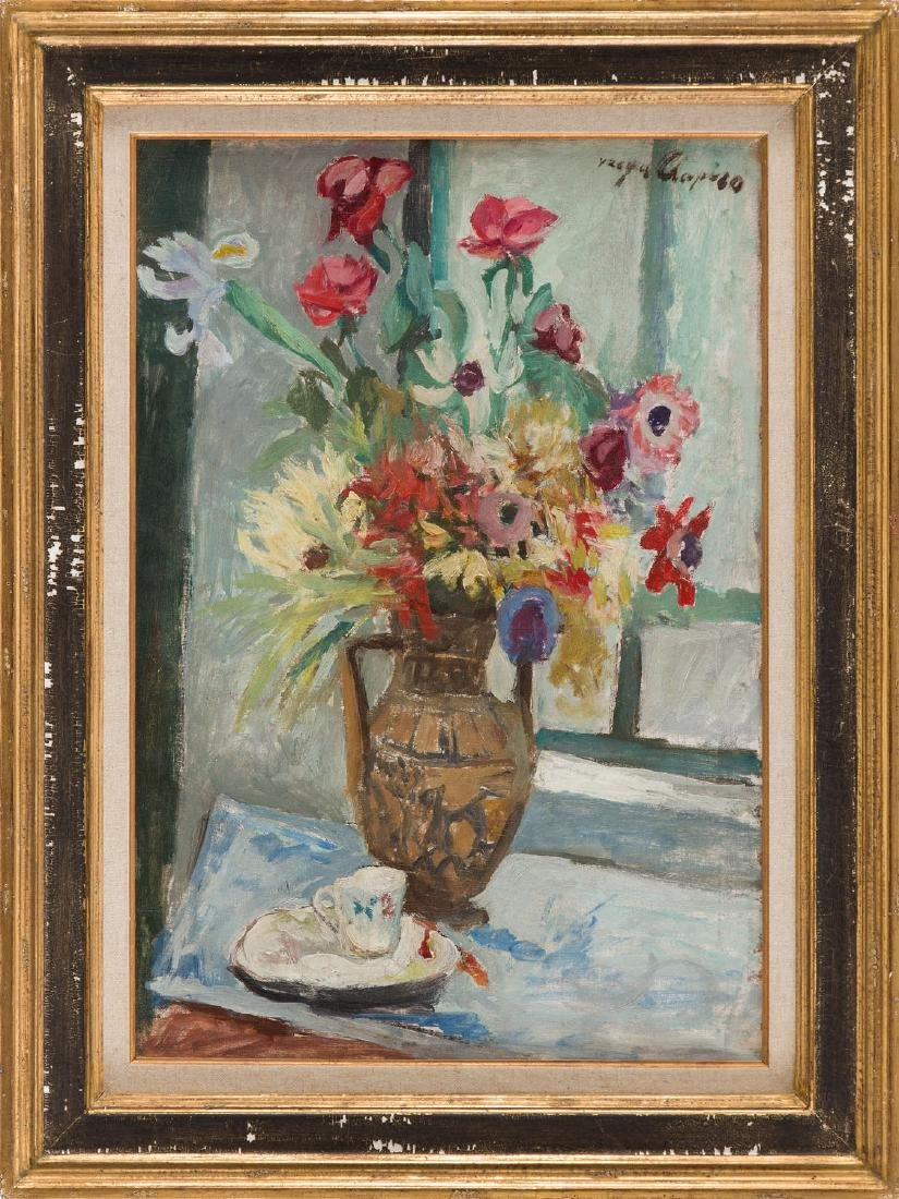Jacques Chapiro (1887 - 1972) Flowers in vase - 6
