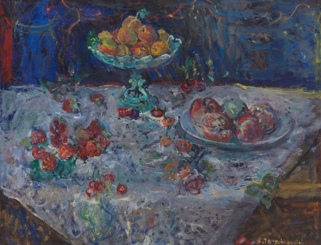 Constantin Terechkovitch (1902 - 1978) Fruit still life