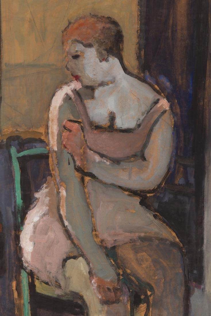 Ossip Lubitch (1896 - 1990) Seated woman in interior - 4