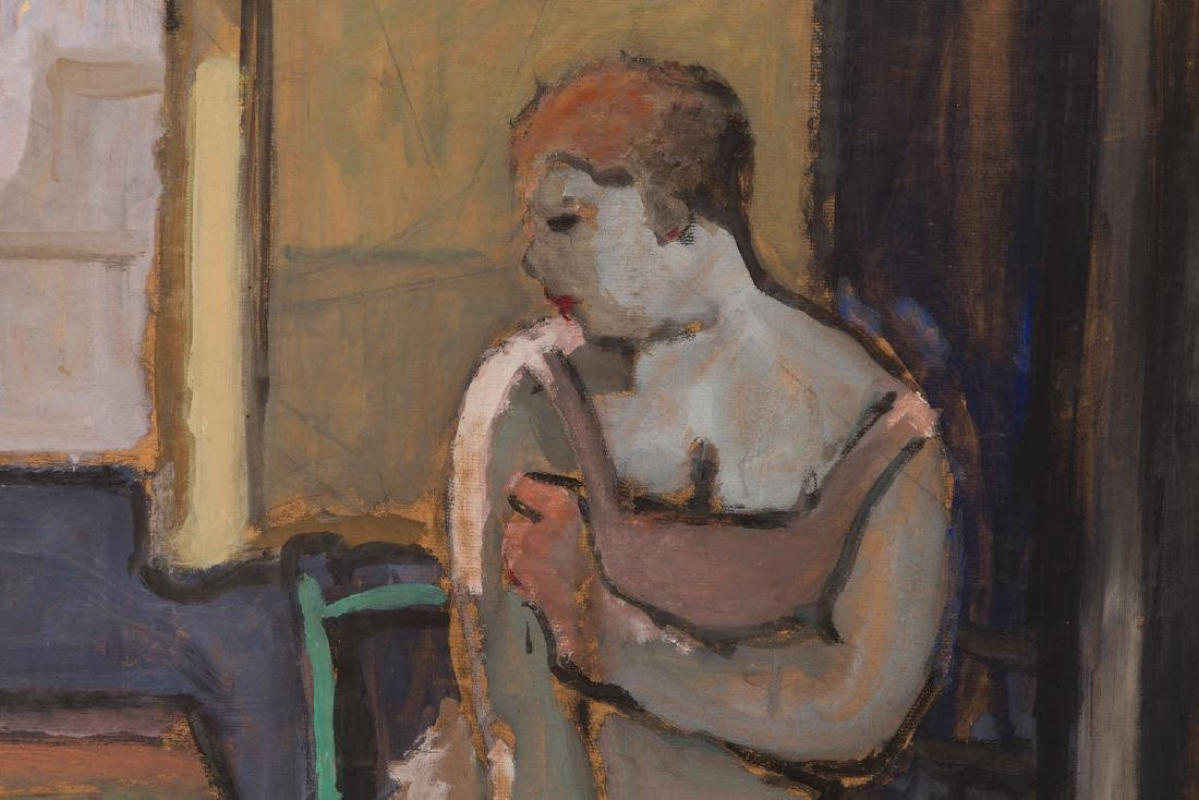 Ossip Lubitch (1896 - 1990) Seated woman in interior - 5