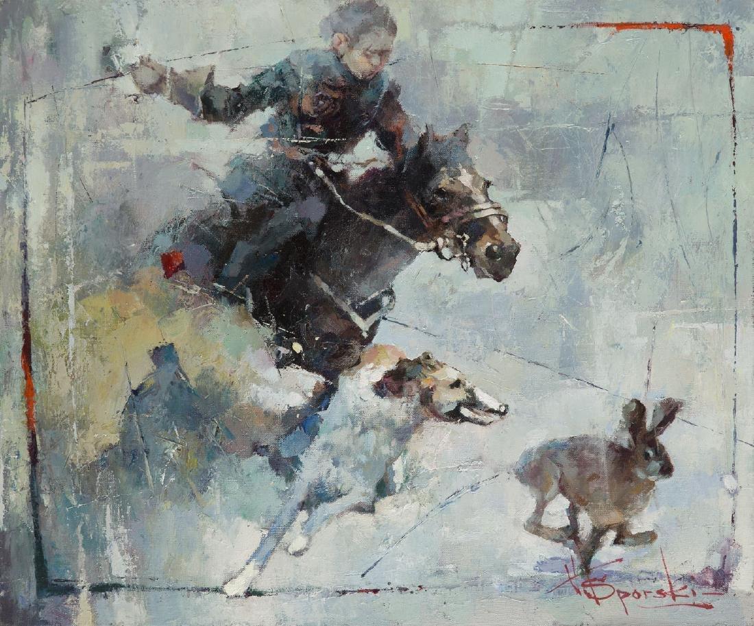 Waclaw Sporski Hare hunting, 2018
