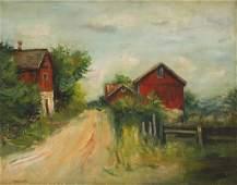 Jakub Zucker (1900 - 1981) Red houses in New Salem