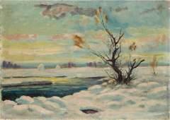 Unknown artist (20th Century) Winter landscape