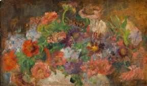 Olga Boznanska (1865-1940) Flowers in a vase