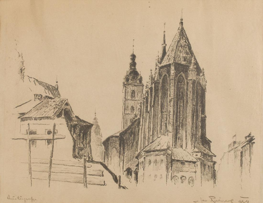 Jan Rubczak (1884-1942) View of the St. Mary's Church
