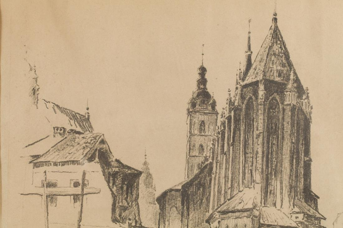 Jan Rubczak (1884-1942) View of the St. Mary's Church - 4