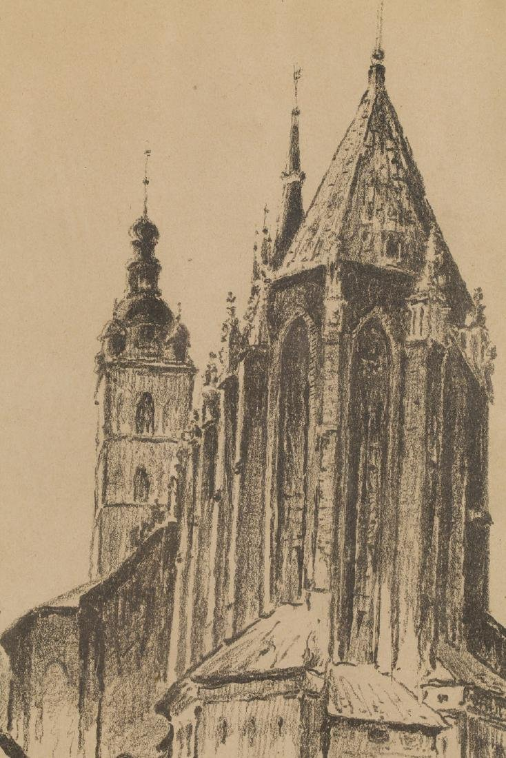 Jan Rubczak (1884-1942) View of the St. Mary's Church - 5