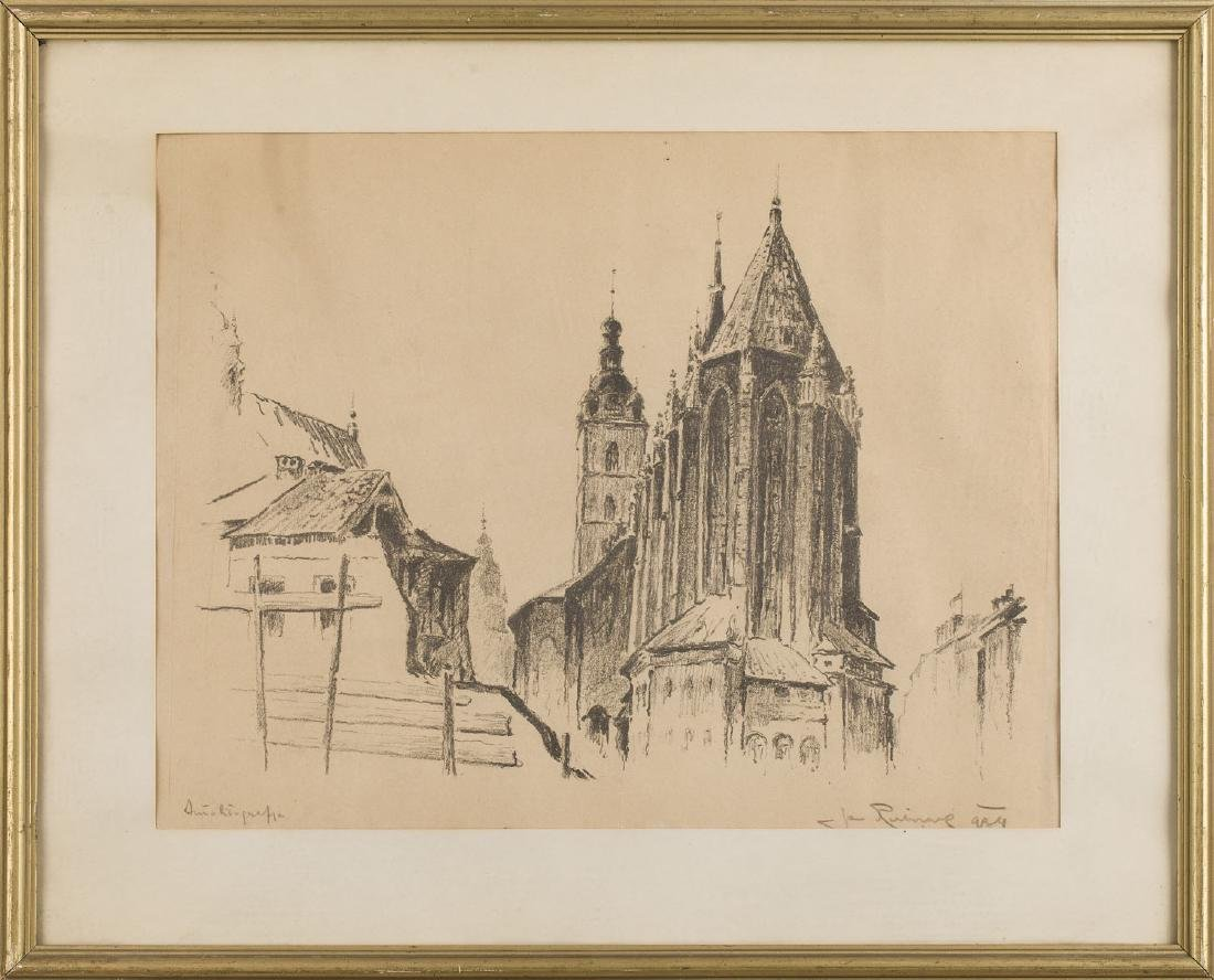 Jan Rubczak (1884-1942) View of the St. Mary's Church - 6