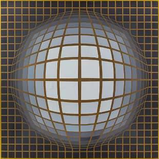 "Victor Vasarely (1906-1997) ""Re-Nab-II-B"", 1968"
