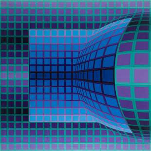 """Victor Vasarely (1906 - 1997) """"Koss"""", 1976"""
