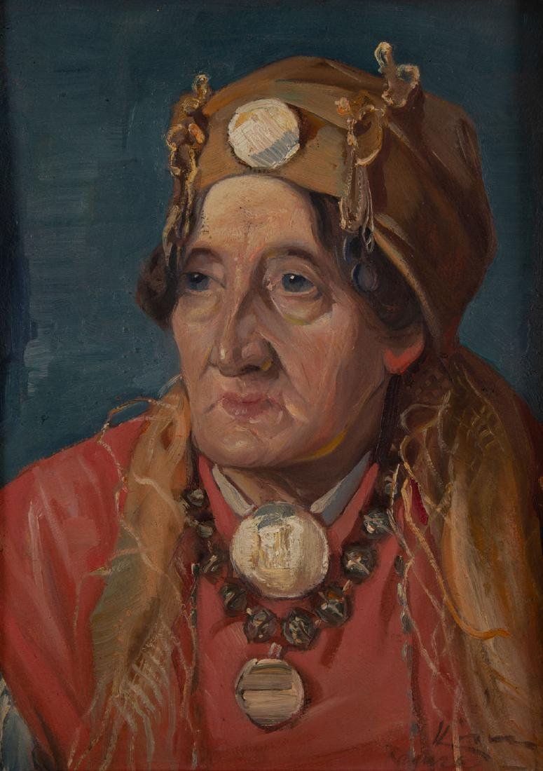 Unknown Artist, 20th century, Portrait of a woman