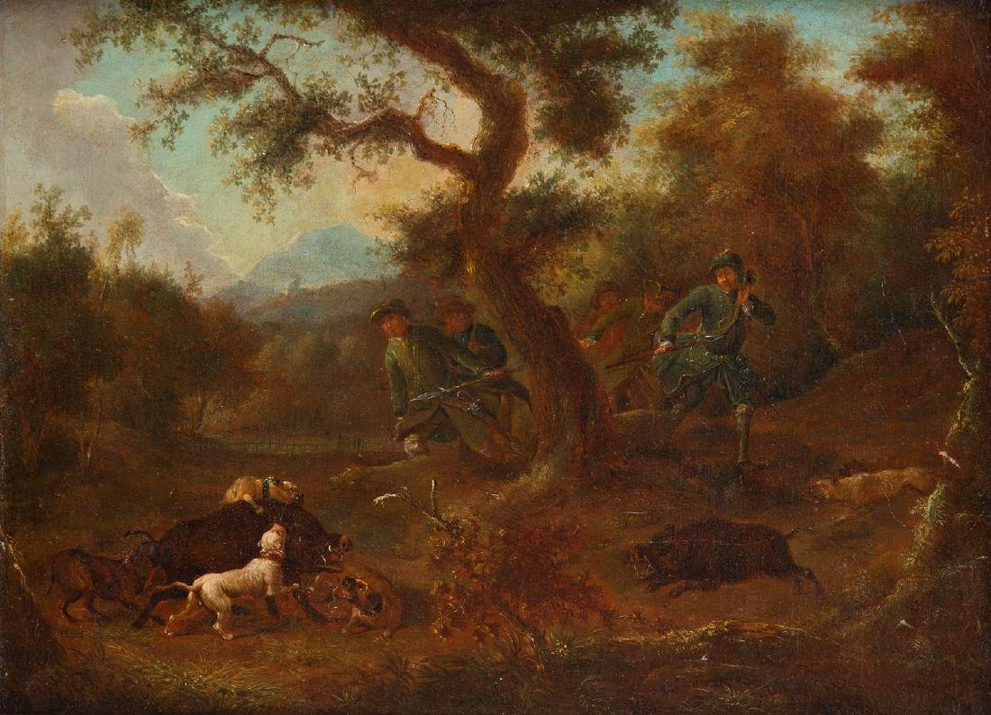 Unknown Artist, 19th century, Loner hunting
