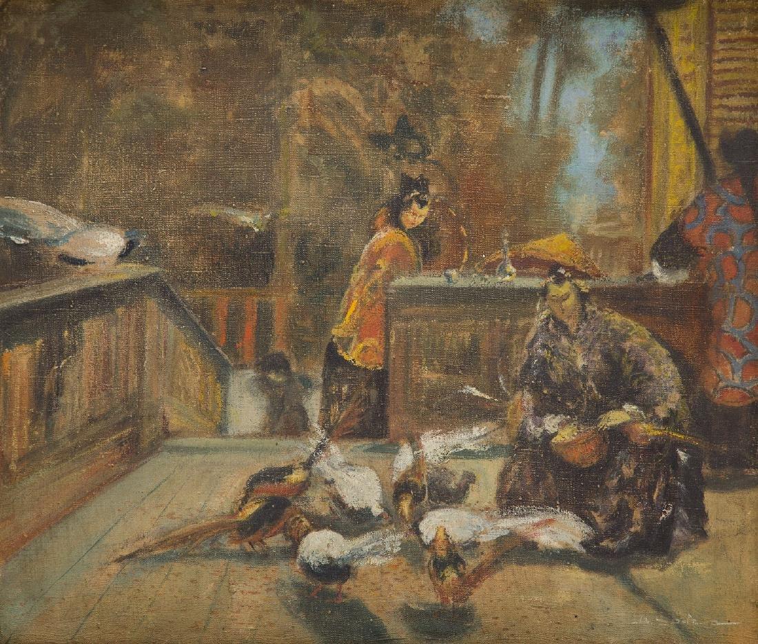 Unknown Artist 20th century, Oriental scene