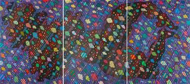 "Jan Dobkowski (b. 1942), ""Universe VII"" - triptych,"