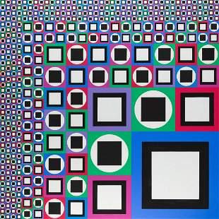"Victor Vasarely (1906 - 1997), ""Mow"", 1980"