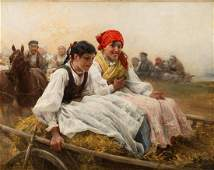 "Alfred Wierusz-Kowalski (1849 - 1915), ""Sunday"