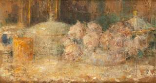 Olga Boznanska (1865 - 1940), Still life with flowers,