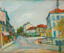 Jakub Zucker (1900 - 1981), Cityscape, oil/canvas, 54.5