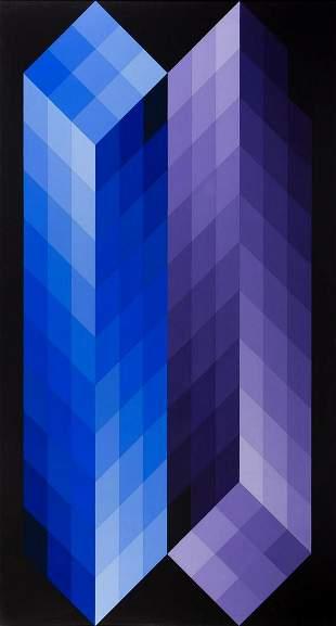 "Victor Vasarely (1906 - 1997) ""TRIDIM-F"", 1968,"
