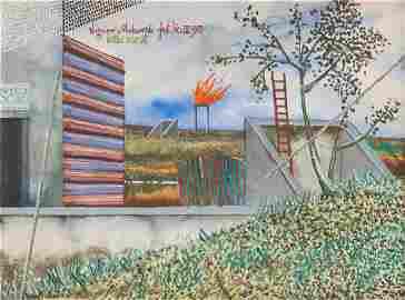 """Zbigniew Makowski (1930 - 2019),  """"Intro vocat"""", 1973,"""