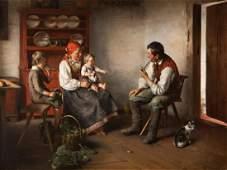 Franciszek Ejsmond (1894 - 1939), Family scene in